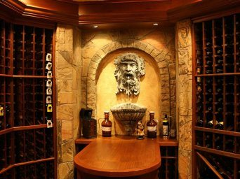 finished basement and wine cellar in gainesville