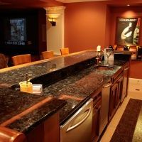 bar in finished basement in haymarket