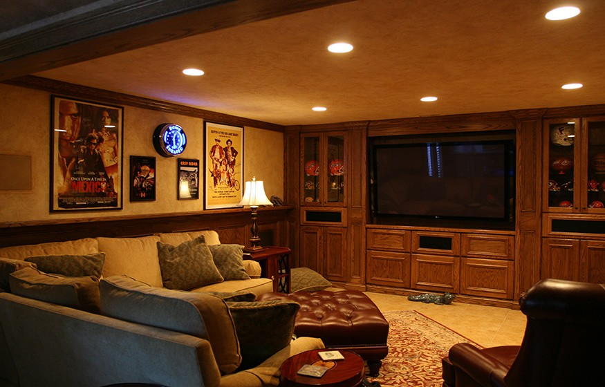 basement remodel in oak hill va