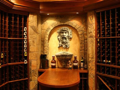 finished basement with wine cellar in gainesville va
