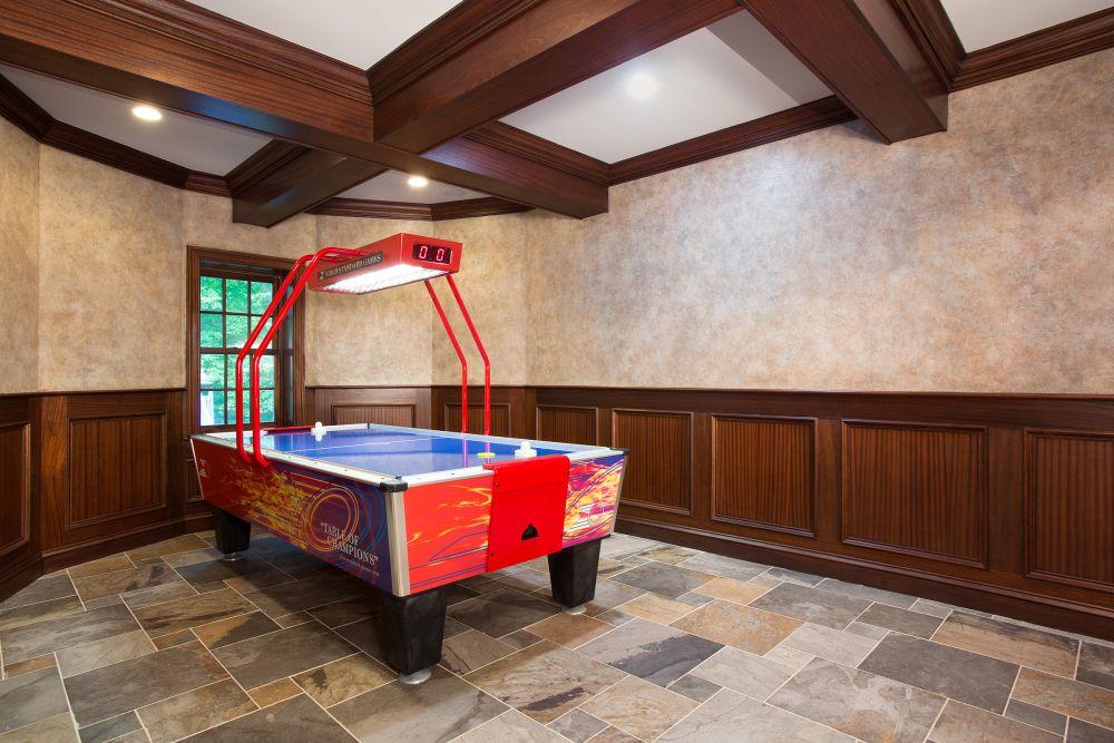 luxury basement remodel in clifton va