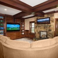 luxury basement remodel in clifton va