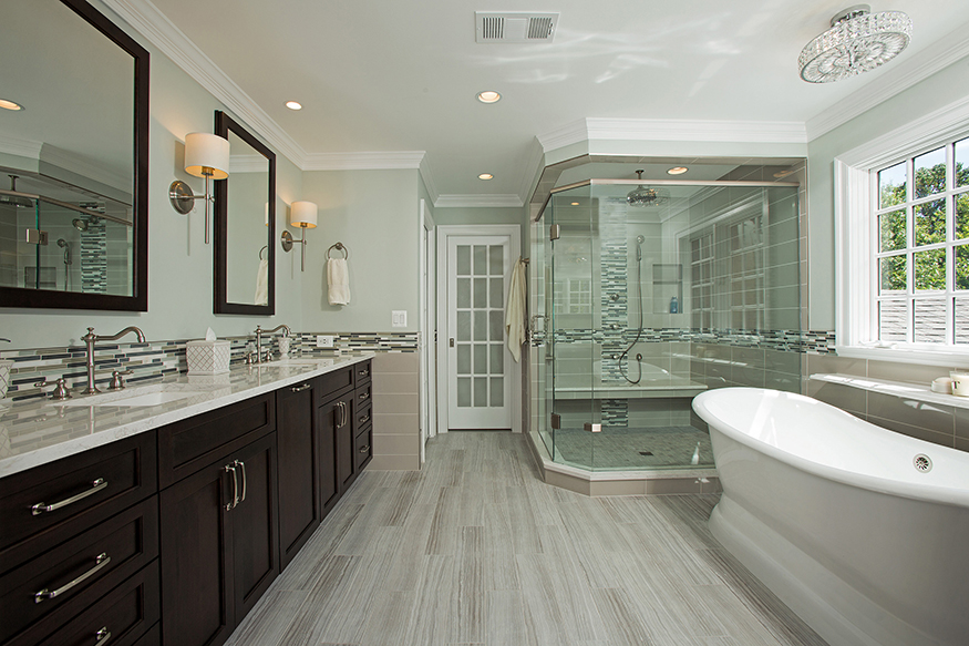 Spa Like Master Bathroom in Oakton, VA