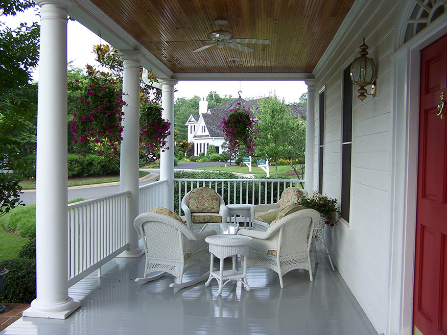 Covered Front Porch Remodeling in Gainesville, VA