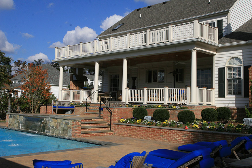 Elevated Covered Patio Remodel in Oakhill, VA
