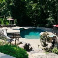patio and pool in oakton va