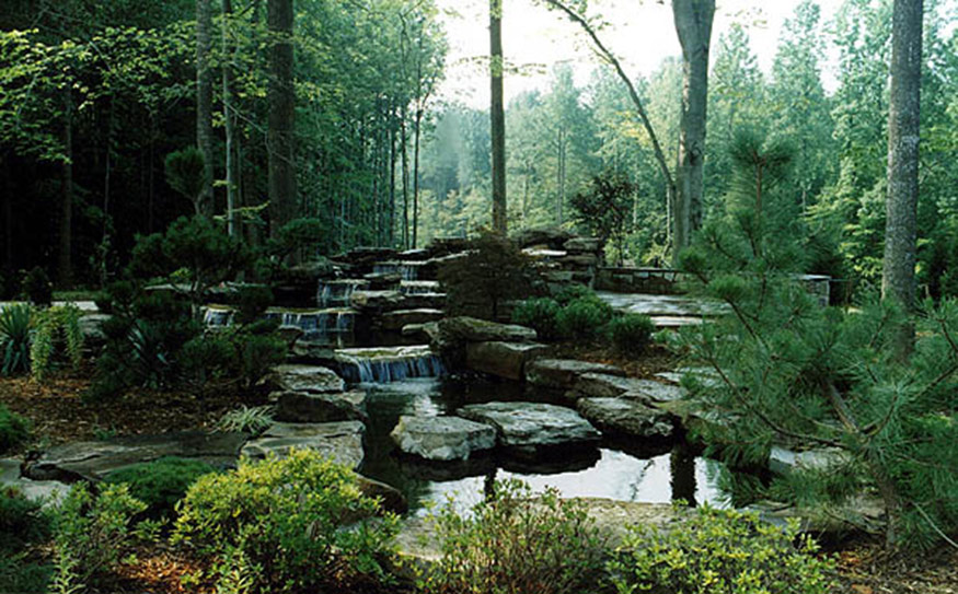 Pond with Waterfall Installation in Fairfax Station, VA