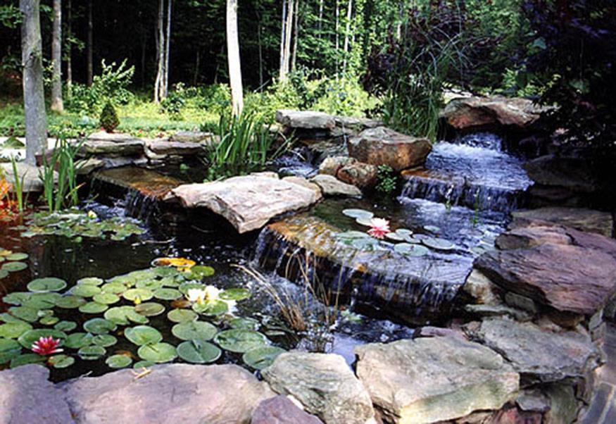 Pond with Waterfall Installation in Fairfax Station, VA