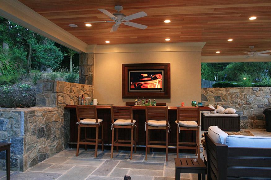 Cabana Bar Installation in Fairfax Station, VA