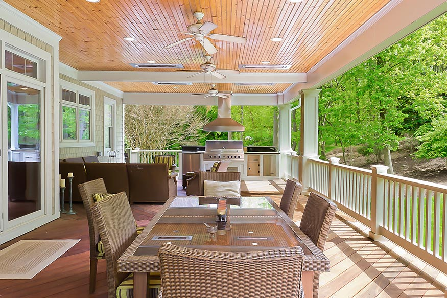 Outdoor Kitchen and Deck Installation in Oakton, VA