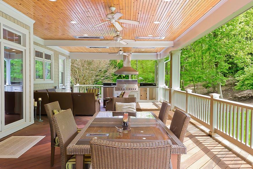 Outdoor Kitchen And Deck Installation In Oakton VA By Berriz Design Custom Kitchen Remodel Northern Virginia Exterior