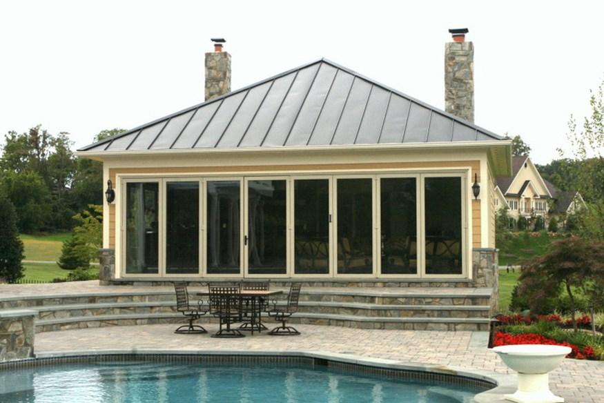 beacon hill pool house landscape