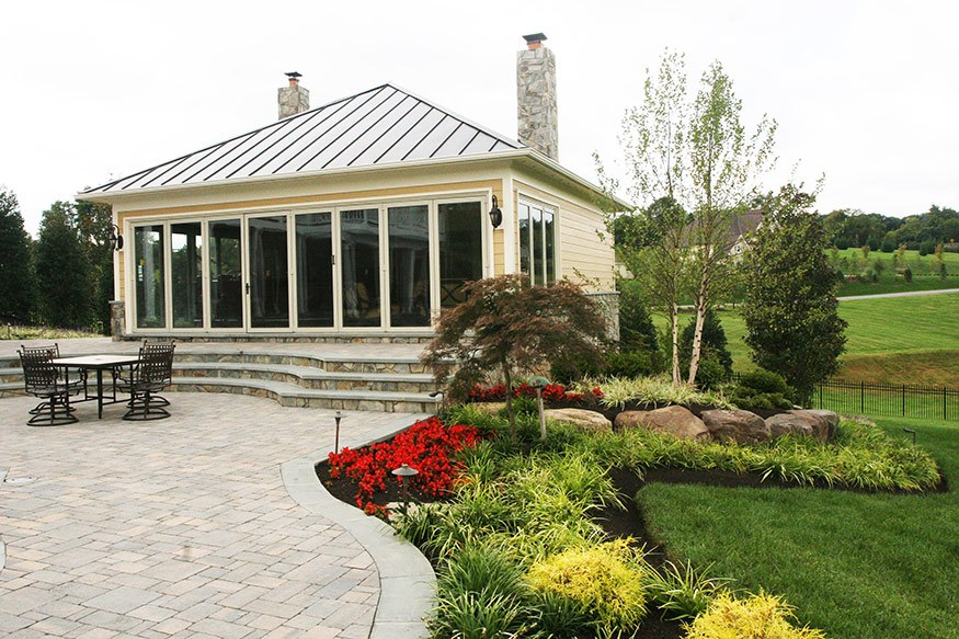 beacon hill pool house landscape