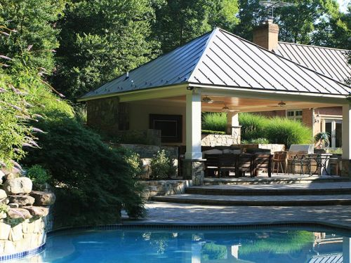 clifton park pool and outdoor kitchen