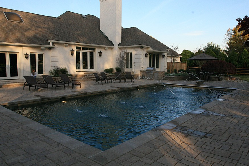 country club pool installation in haymarket