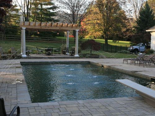 country club swimming pool installation in haymarket