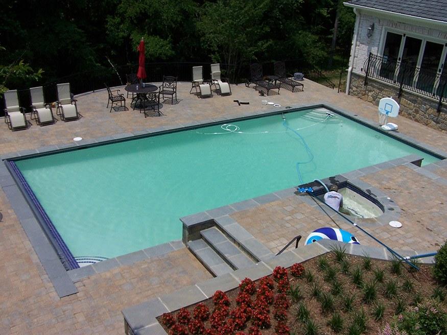 custom pool in oakton