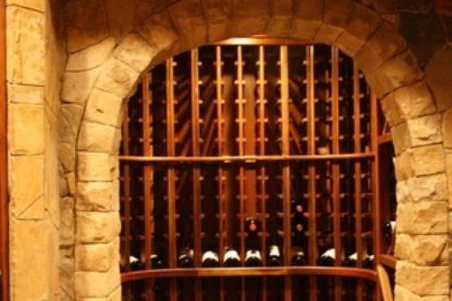stone in wine cellar