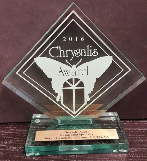 2016 chrysalis award residential specialty